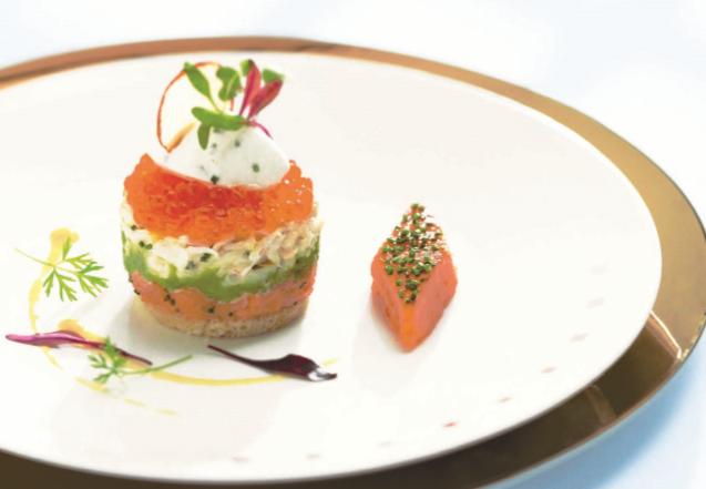 Smoked Salmon And Peekytoe Crab Parfait World Of