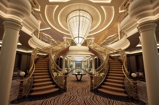 Seven Seas Explorer's atrium