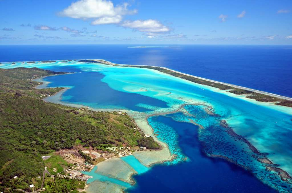 Bora Bora - aerial view - French polynesia