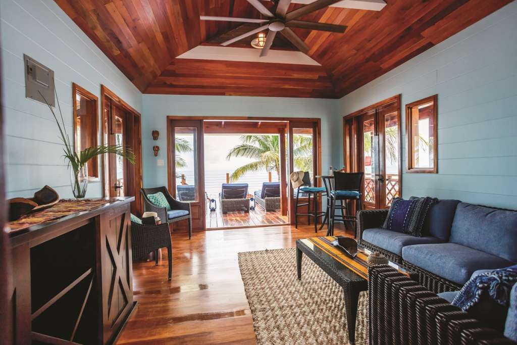 Harvest Caye - Beach Villa Interior