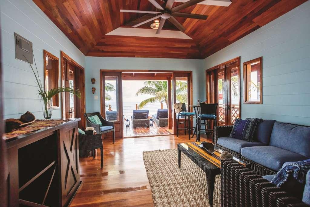 Harvest Caye - Beach Villa Interior