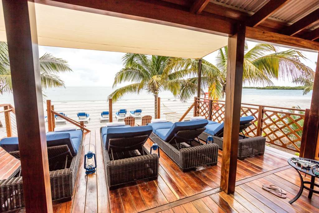 Beach Villa Porch - Harvest Caye