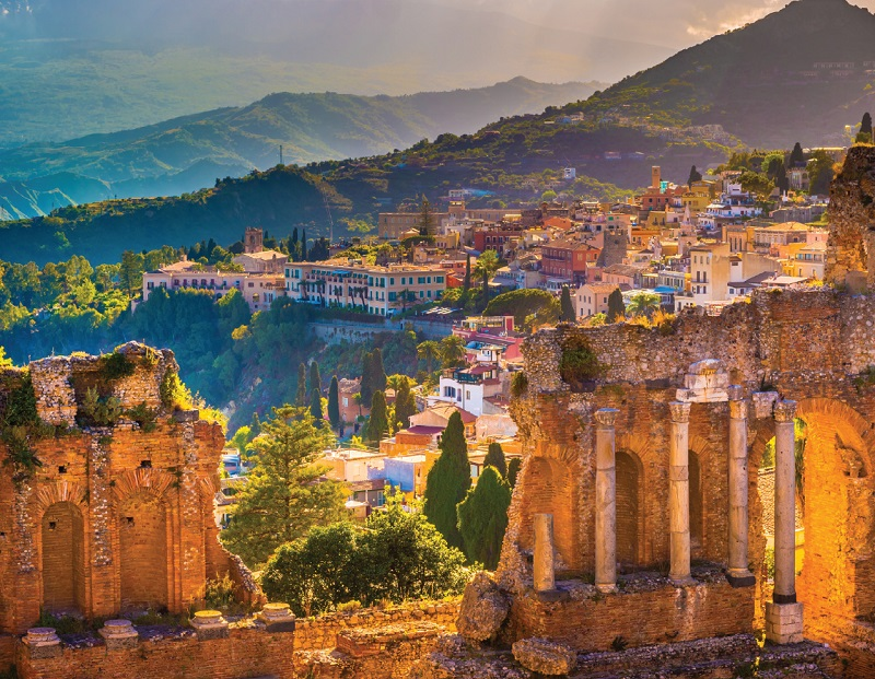 Ancient Greek theatre - Taormina - italy