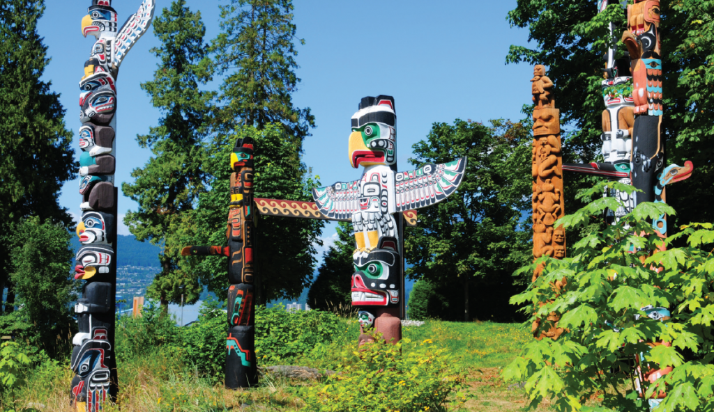 First Nations totems - Vancouver