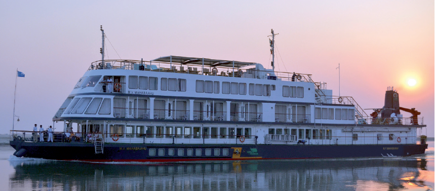 MV Mahabaahu on a Brahmaputra river cruise