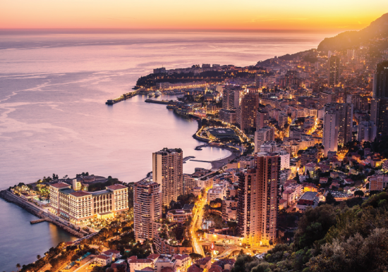 Crystal Cruises 2022: Monaco - at night