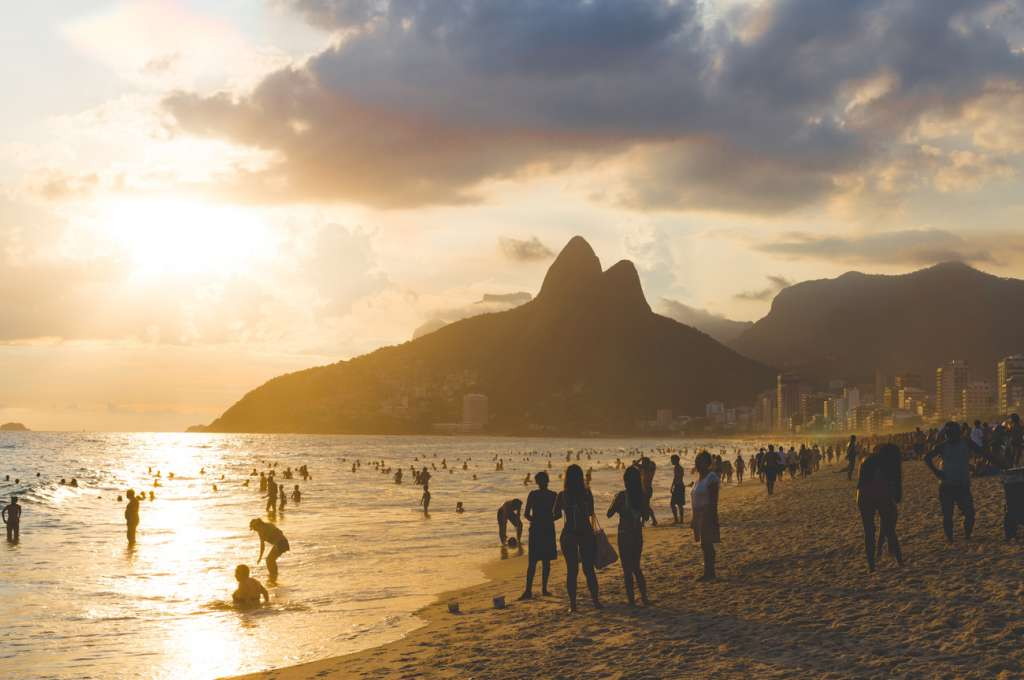 Sunset - Ipanema beach - Brazil