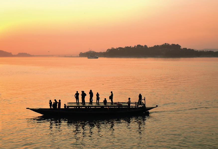 Boat on the Brahmaputra