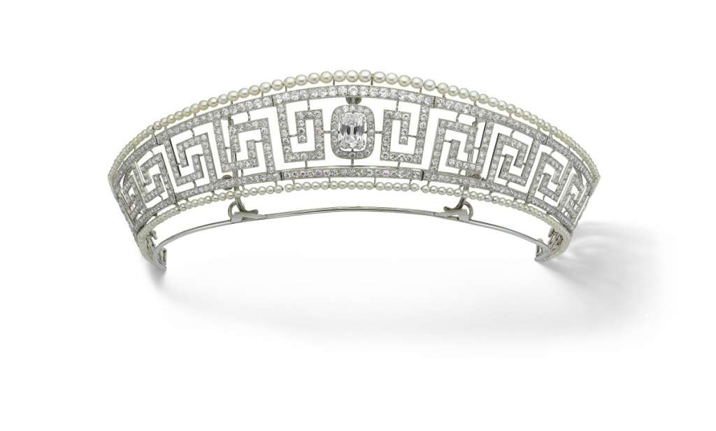 Diamond and pearl tiara saved from the Lusitania Cartier Paris 1909. Previously owned by Lady Marguerite Allan. Marian Gérard Cartier Collection © Cartier