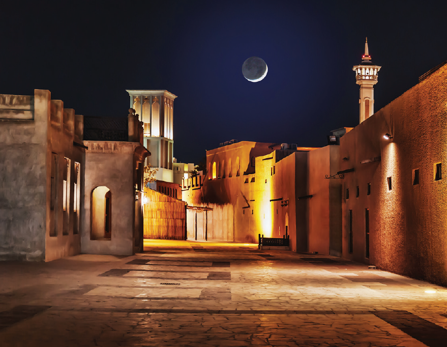 Dubai - Old City at night