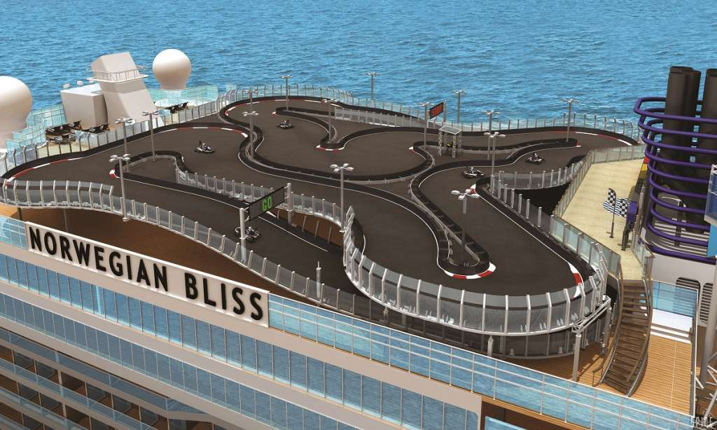 Norwegian Bliss to feature the largest race track at sea