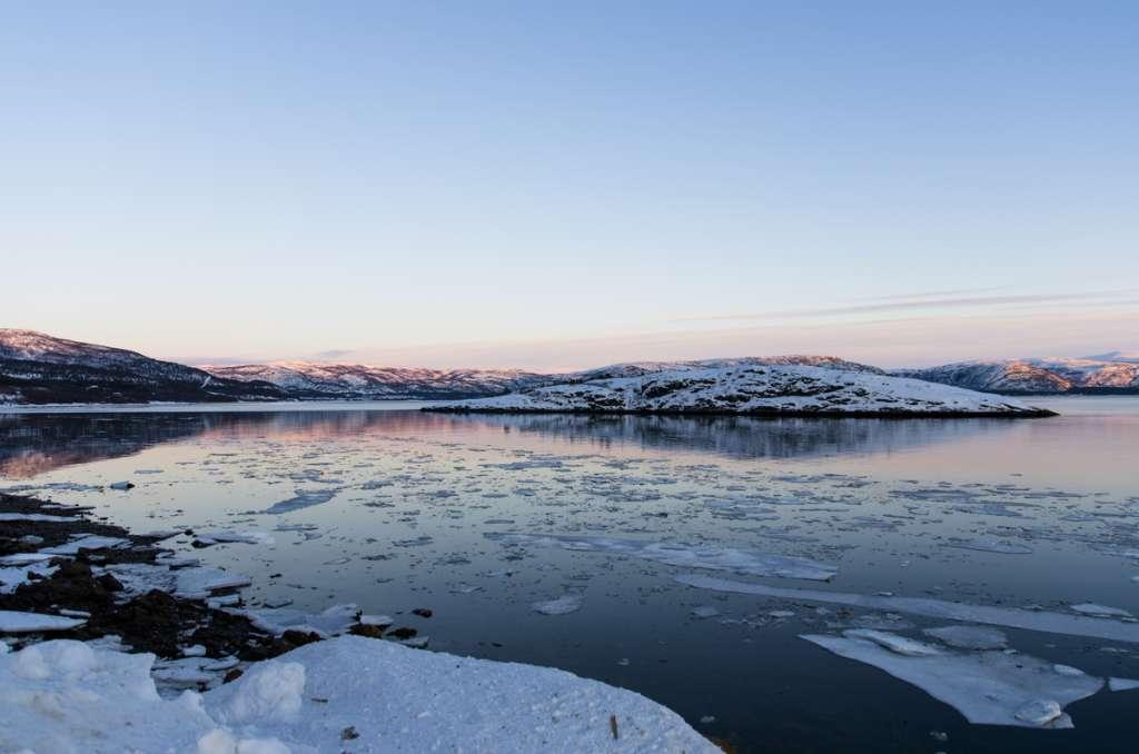 Frozen lake - Alta - Norway