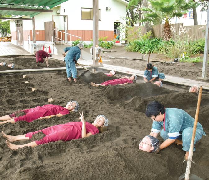 Hot Sand Bath - Japan