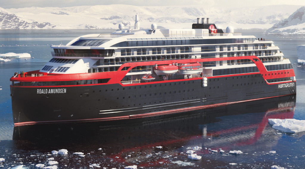 Hurtigruten - Roal Amundsen ship