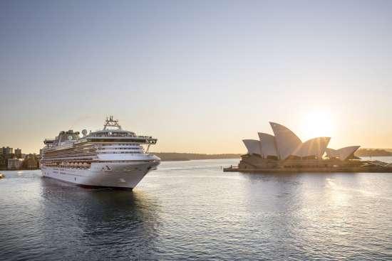 Sailing into Sydney, Australia