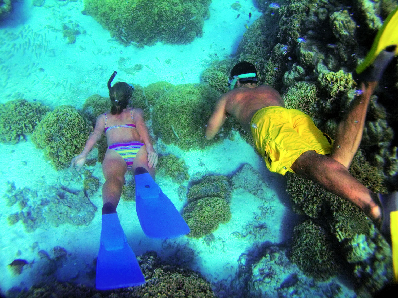 snorkel, Tahiti, new itinerary