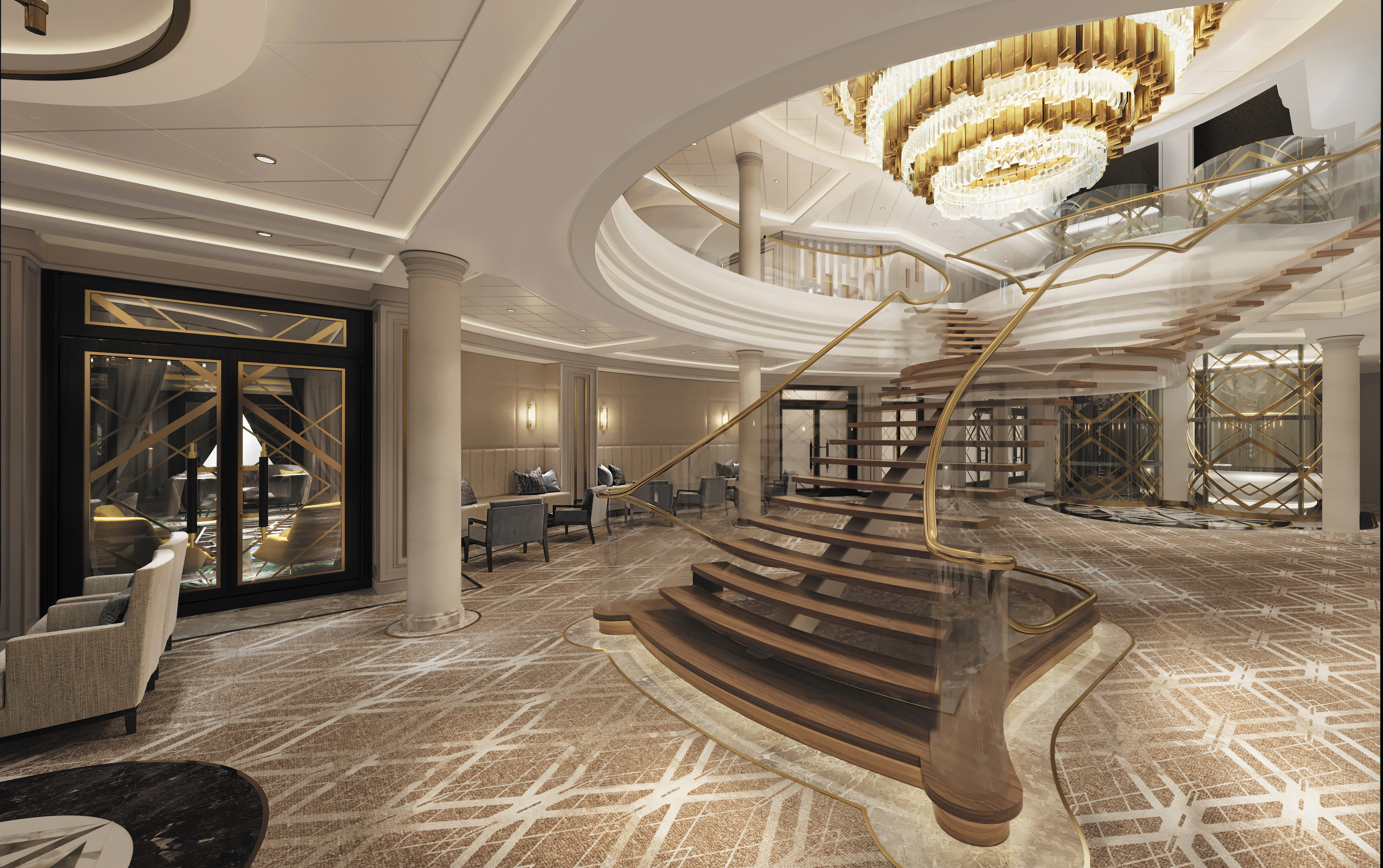 Seven Seas Splendor, interiors, new ship, Regent Cruises
