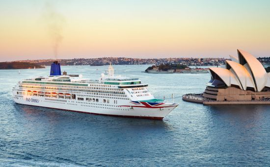 p&o cruises aurora in sydney