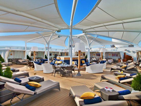 Seabourn Ovation Retreat exclusive Sun Desk
