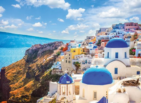 Variety cruises traditional greek village