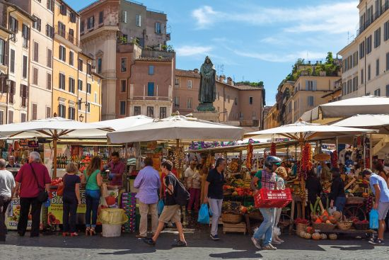 Campo de'Fiori open-air market