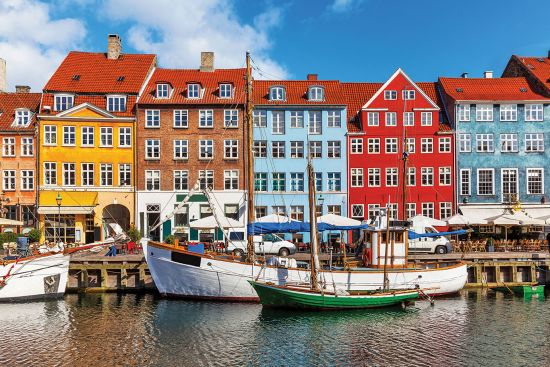 Picturesque houses in Copenhagen