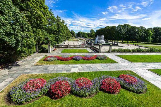 Beautiful flowers in Frogner Park