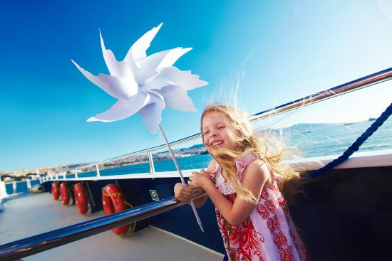 Girl on cruise ship, Shutterstock image