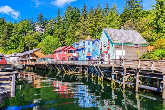 Colourful fishing town of Ketchikan
