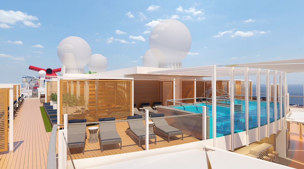 Mardi Gras' Loft 19 featuring a pool, sunbeds and cabanas