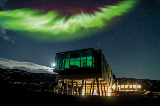 Adventure Hotel in Iceland is perfect spot to see Northern Lights
