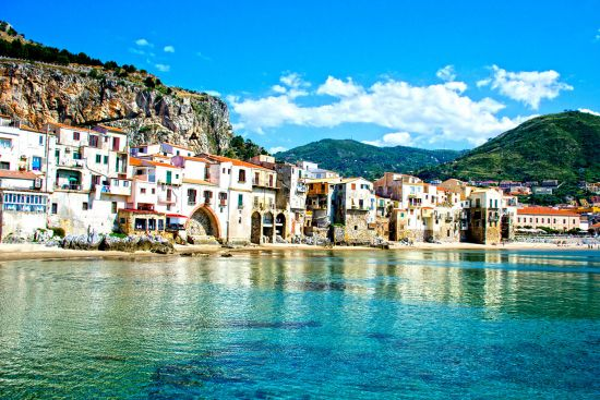 Beautiful coast of Cefalu, Palermo - Sicily