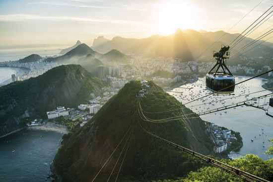 The cable car to Rio's Sugarloaf Mountain