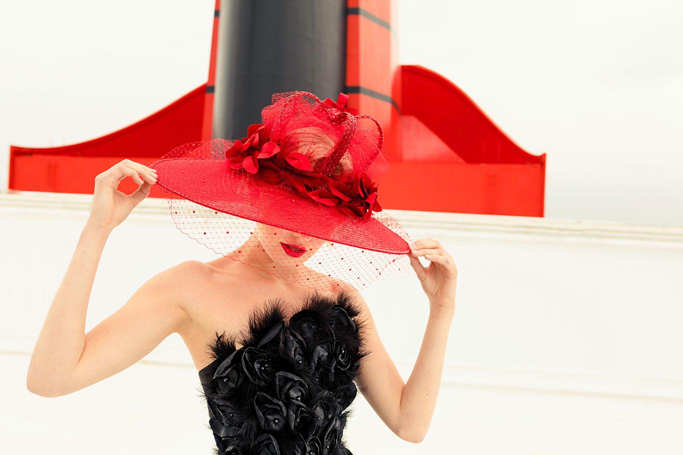 Stephen Jones' hat created for Cunard's Fashion Week Transatlantic cruise