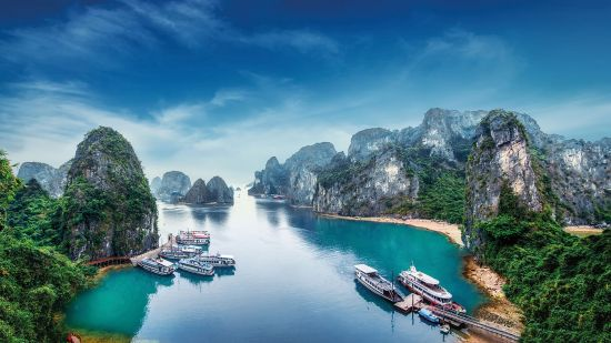 Ha Long Bay on the South China Sea in Vietnam is a highlight on an Asia river cruise