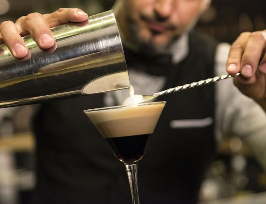 Barman making espresso martini