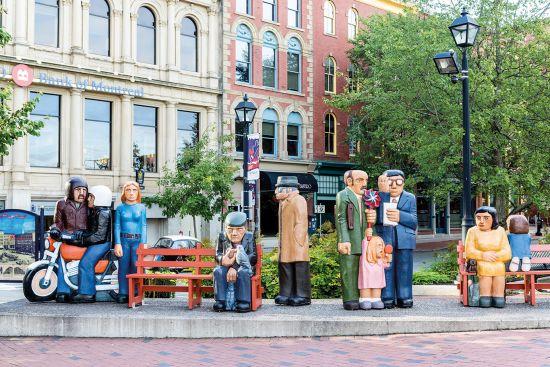 Statues in downtown Saint John, New Brunswick