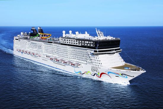 Norwegian Epic Aerial at sea