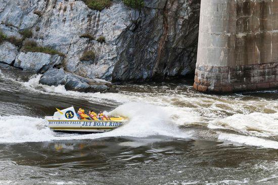 A boat trip on the reversing rapids in Saint John, New Brunswick