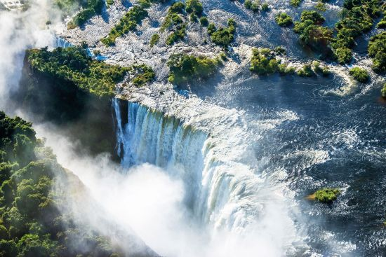 Victoria Falls, where passengers will fly from on CroisiEurope's African Safari cruise