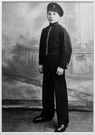 Cunard bellboy: Jack Jenkins