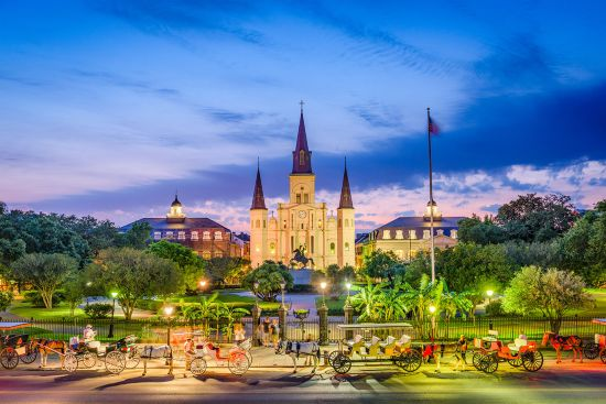 Jackson Square, New Orleans, US cruise