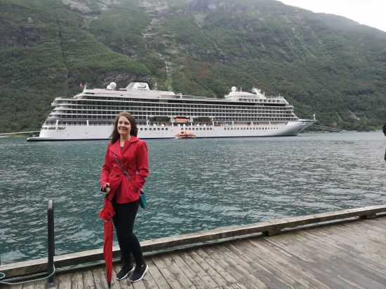 Emma Le Teace on Viking Sea's Midnight Sun cruise
