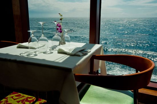Dining table on a cruise ship