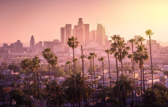 North America cruises: sunset in Los Angeles, US cruise