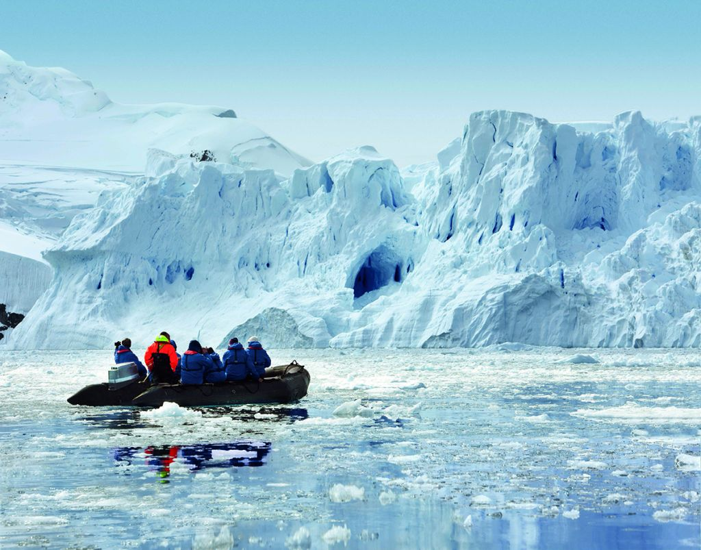 Zodiac excursion, Antarctica, expedition cruise