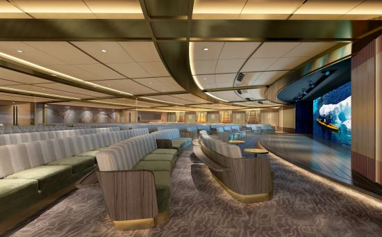 Seabourn Venture submarine excursion: Discovery lounge