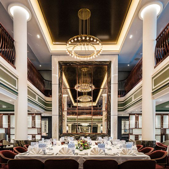 Grand Dining Room, Spirit of Discovery, cruise ship review