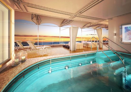 SIlversea Silver Moon: Spa deck
