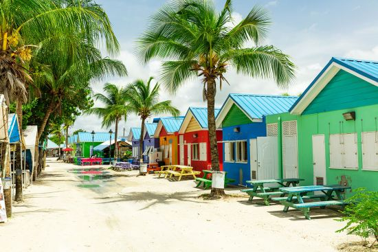 Caribbean cruise, colourful houses in Barbados